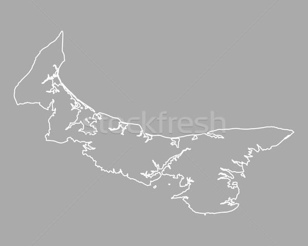 Mapa isla del príncipe eduardo isla Canadá aislado ilustración Foto stock © rbiedermann