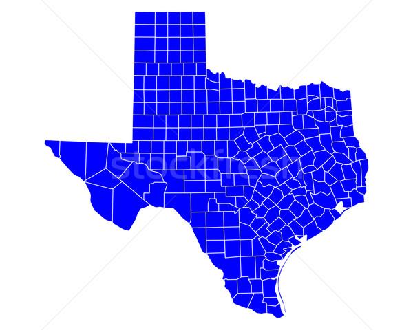 Harita Teksas mavi seyahat ABD yalıtılmış Stok fotoğraf © rbiedermann