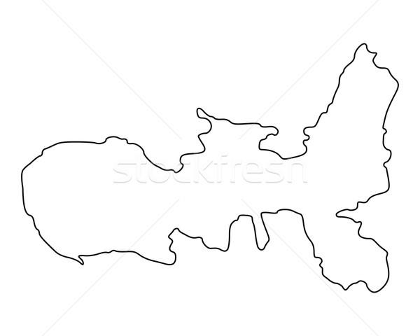 Mapa vetor Itália isolado ilustração cinza Foto stock © rbiedermann