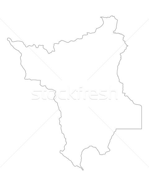 Map of Roraima Stock photo © rbiedermann