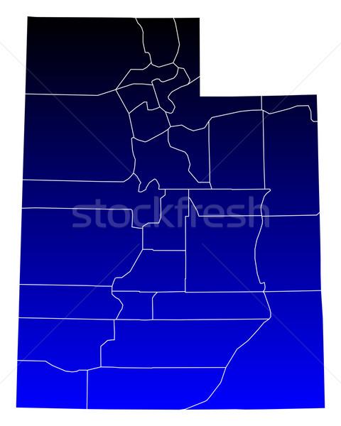 地図 ユタ州 青 米国 ベクトル 孤立した ストックフォト © rbiedermann