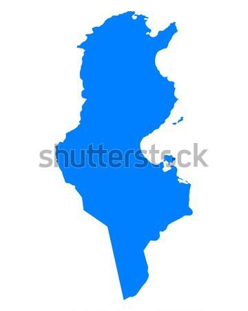 Mapa azul vetor isolado ilustração geografia Foto stock © rbiedermann