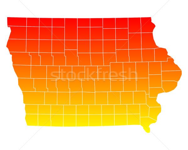 карта США вектора изолированный иллюстрация география Сток-фото © rbiedermann
