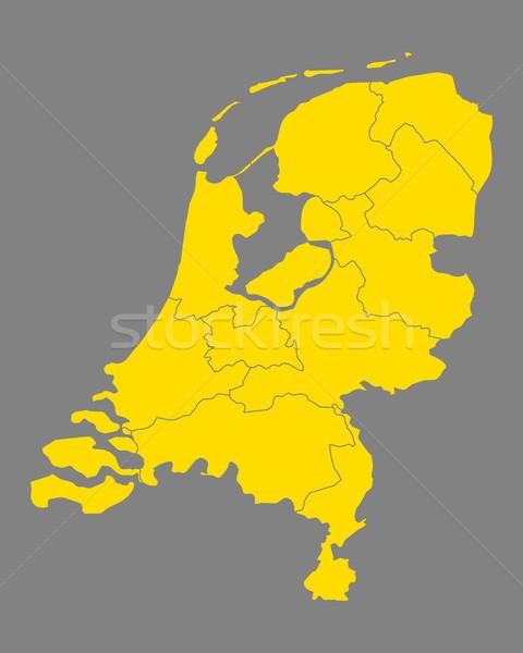 Karte Niederlande Hintergrund line Vektor Illustration Stock foto © rbiedermann