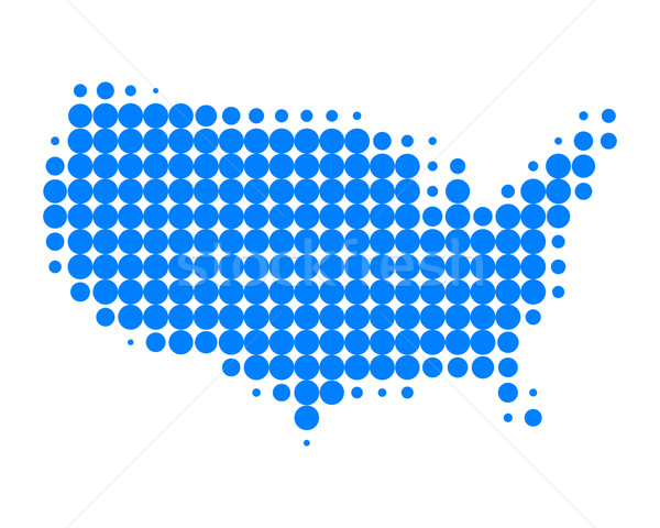 Mapa EUA azul padrão américa círculo Foto stock © rbiedermann