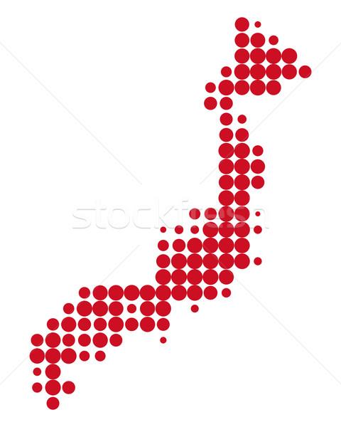 Map of Japan Stock photo © rbiedermann