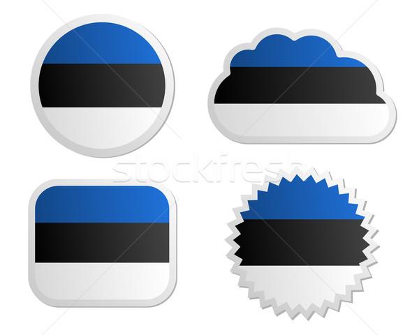 エストニア フラグ ラベル 紙 デザイン にログイン ストックフォト © rbiedermann