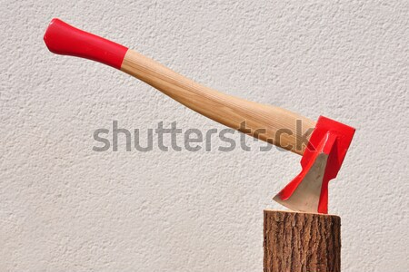 Ax stelo rosso energia taglio legname Foto d'archivio © rbiedermann