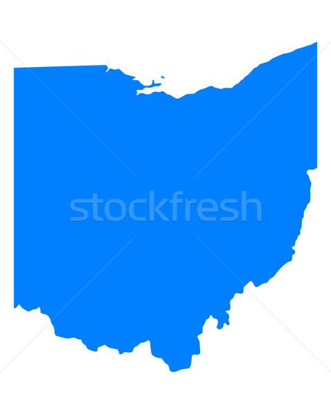 Térkép Ohio kék utazás Amerika USA Stock fotó © rbiedermann