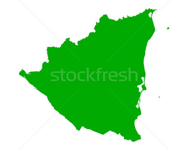 Térkép Nicaragua zöld utazás vektor Stock fotó © rbiedermann