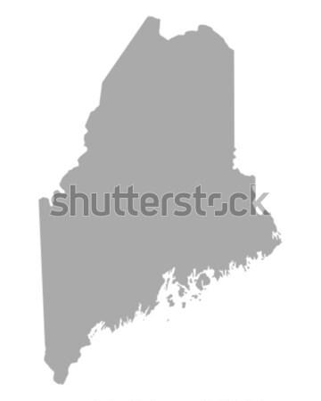 Mapa Maine papel fundo viajar cartão Foto stock © rbiedermann