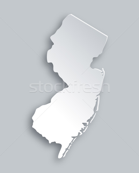Kaart New Jersey papier achtergrond reizen kaart Stockfoto © rbiedermann