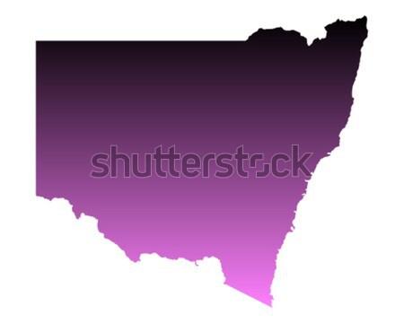 Mapa azul vetor Austrália isolado Foto stock © rbiedermann