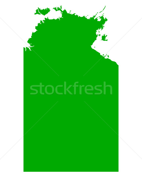 Map of Northern Territory Stock photo © rbiedermann