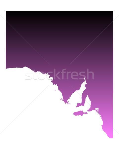 Térkép Dél-Ausztrália rózsaszín vektor Ausztrália izolált Stock fotó © rbiedermann