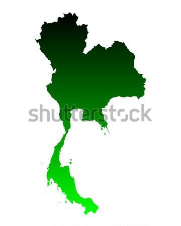 карта Таиланд зеленый путешествия вектора Сток-фото © rbiedermann
