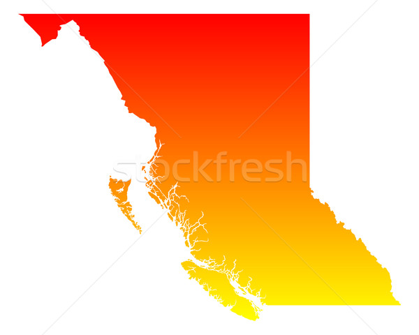 Map of British Columbia Stock photo © rbiedermann