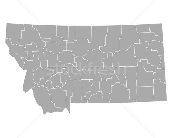 Térkép Montana háttér vonal vektor illusztráció Stock fotó © rbiedermann