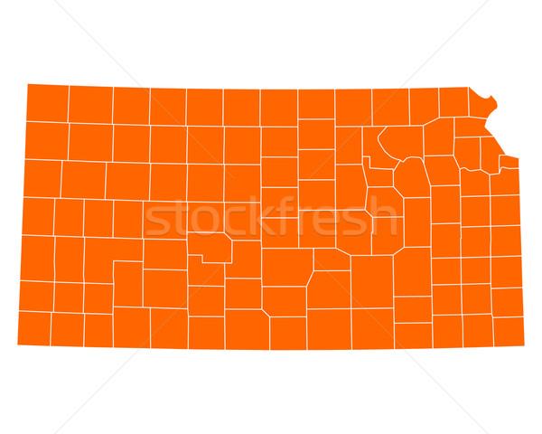 Carte Kansas USA vecteur isolé illustration Photo stock © rbiedermann