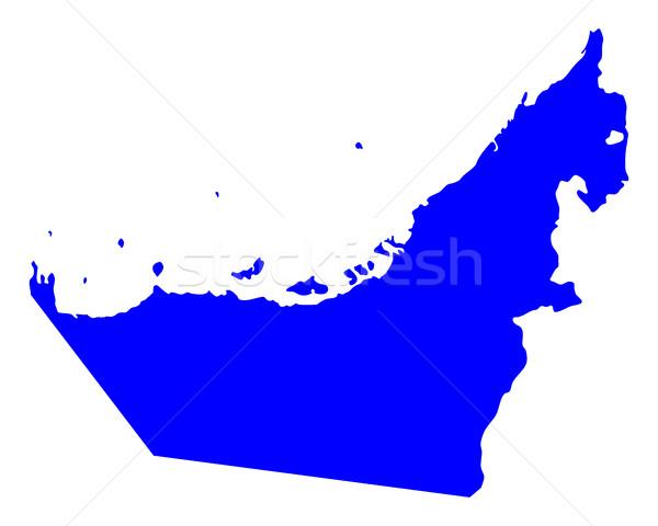 карта арабских синий вектора изолированный Сток-фото © rbiedermann