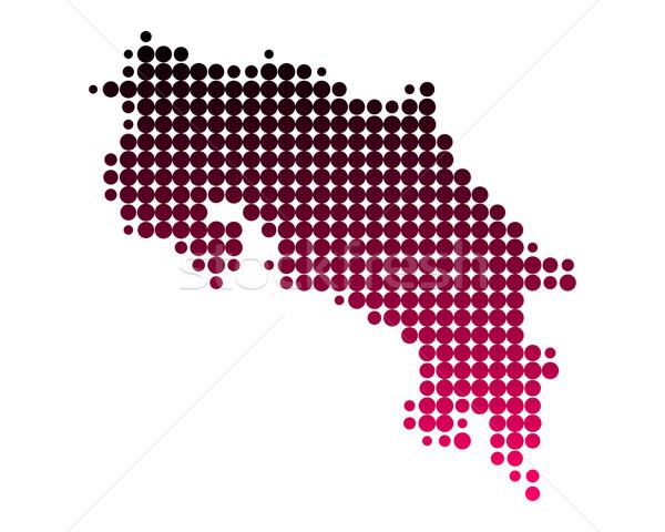 Mappa Costarica pattern rosa viola cerchio Foto d'archivio © rbiedermann