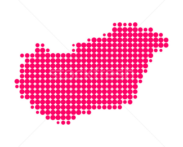 Stock fotó: Térkép · Magyarország · utazás · minta · Európa · lila