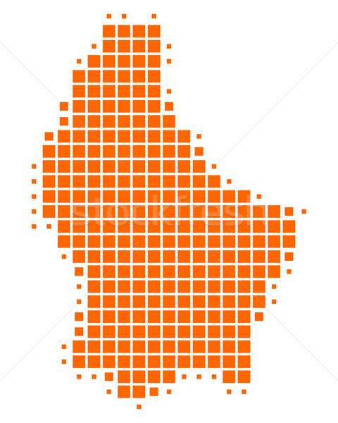 Stockfoto: Kaart · Luxemburg · achtergrond · vierkante · punt · illustratie