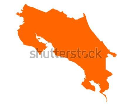Mapa Costa Rica vector aislado Foto stock © rbiedermann