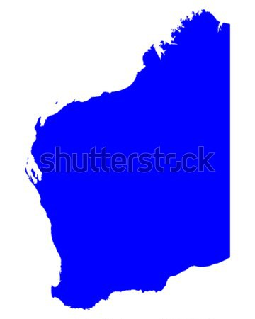 Térkép western Ausztrália kék vektor Stock fotó © rbiedermann