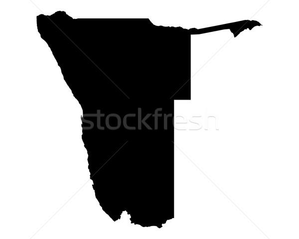 карта Намибия путешествия черный вектора Сток-фото © rbiedermann