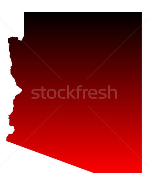 Mapa Arizona viaje rojo América EUA Foto stock © rbiedermann