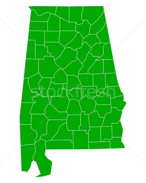 Harita Alabama arka plan yeşil hat vektör Stok fotoğraf © rbiedermann