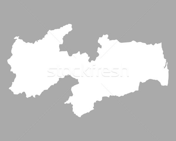 карта вектора изолированный иллюстрация серый серый Сток-фото © rbiedermann