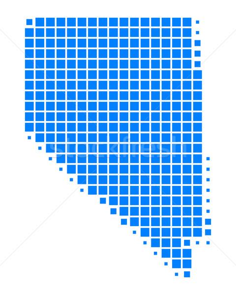 Mapa Nevada azul padrão américa praça Foto stock © rbiedermann