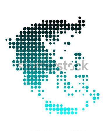 Mappa Grecia nero pattern cerchio Foto d'archivio © rbiedermann