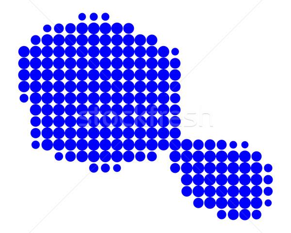 Harita tahiti mavi model daire nokta Stok fotoğraf © rbiedermann