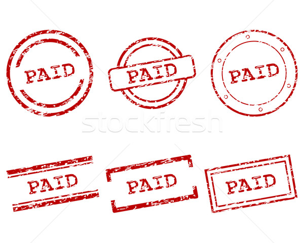 支払われた スタンプ スタンプ ヴィンテージ グラフィック ボタン ストックフォト © rbiedermann