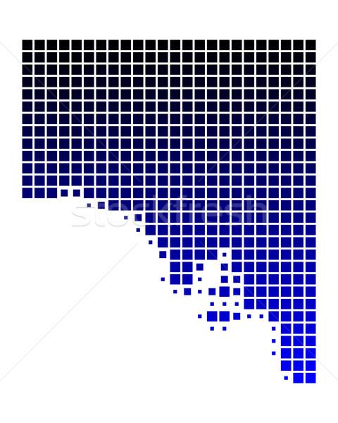 Mapa sul da austrália azul padrão praça ilustração Foto stock © rbiedermann