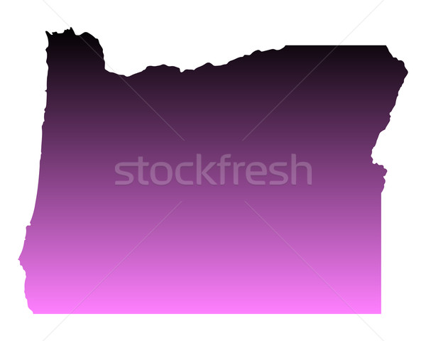 Harita Oregon seyahat pembe Amerika ABD Stok fotoğraf © rbiedermann