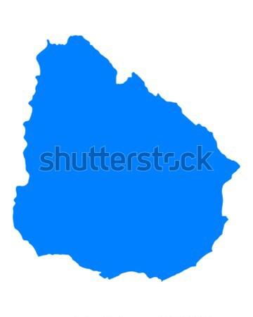 Mapa Uruguai verde azul viajar vetor Foto stock © rbiedermann