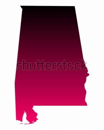 карта Алабама путешествия розовый Америки Purple Сток-фото © rbiedermann