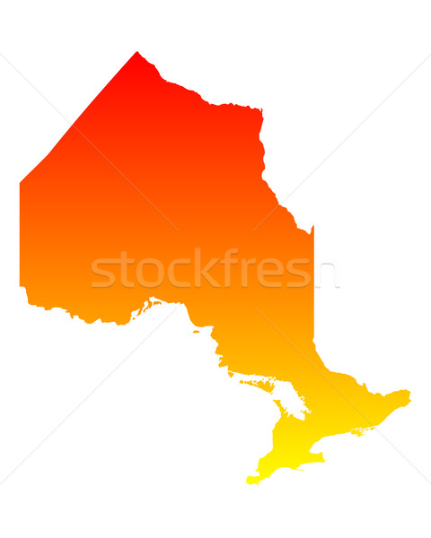 Map of Ontario Stock photo © rbiedermann