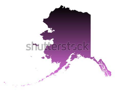 Carte Alaska Voyage rose Amérique USA Photo stock © rbiedermann