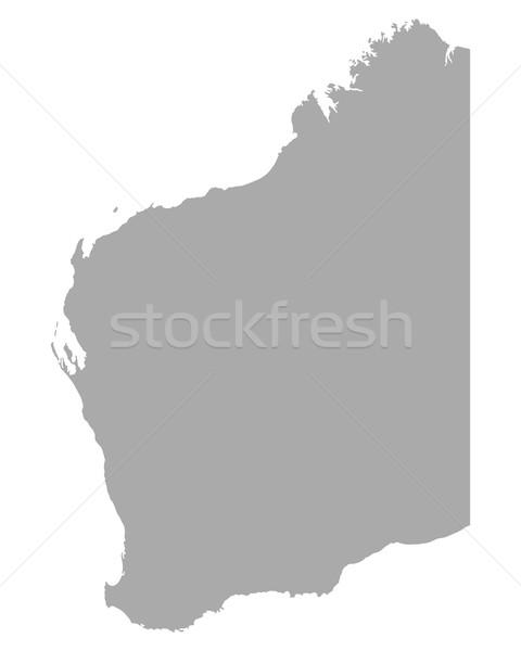 Carte ouest Australie Voyage vecteur isolé Photo stock © rbiedermann