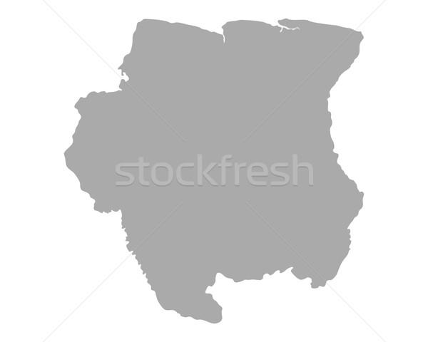карта Суринам вектора изолированный иллюстрация серый Сток-фото © rbiedermann