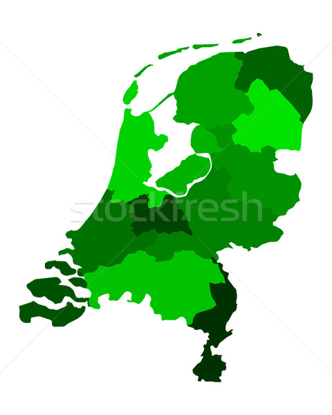 Carte Pays-Bas vert Voyage holland frontière Photo stock © rbiedermann