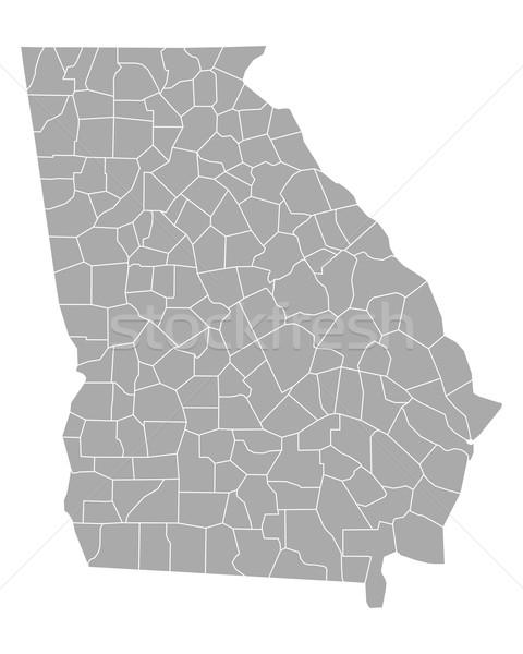 карта Грузия фон линия вектора иллюстрация Сток-фото © rbiedermann