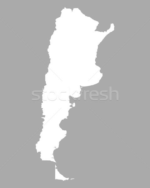 карта Аргентина фон линия Сток-фото © rbiedermann