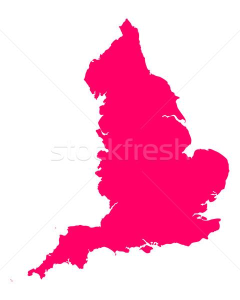 Kaart Engeland paars vector geïsoleerd Stockfoto © rbiedermann
