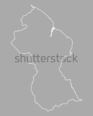 Térkép Guyana vektor izolált szürke Stock fotó © rbiedermann